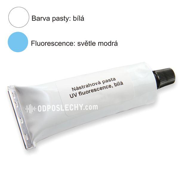 Nástrahová pasta bílá, modrobílá fluorescence