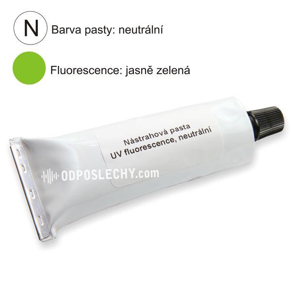 Nástrahová pasta neutrální, zelená fluorescence