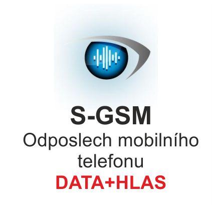 Odposlech mobilního telefonu S-GSM, verze DATA+HLAS 2017, profesionální instalace, dodávka na klíč