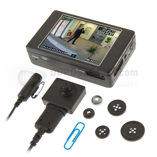 Skrytá kamera pro audio-video odposlech DVR-500S: FULL HD rekordér, skrytá kamera 2.0 Mpx a mikrofon
