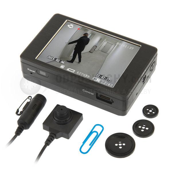 Skrytá kamera pro audio-video odposlech DVR-300S: digitální rekordér, skrytá kamera a mikrofon