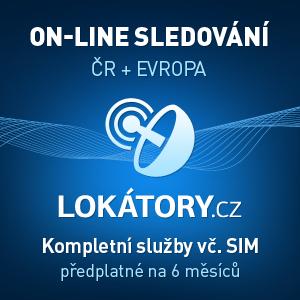 On-line sledování pro lokátory s magnety, Česká republika a Evropa, předplatné na 6 měsíců