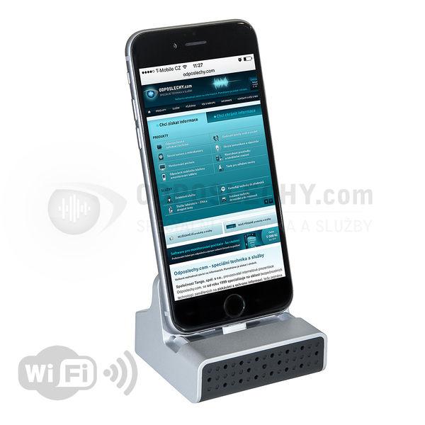 Skrytá WiFi IP kamera v dokovací stanici pro iPhone DVR-400IPWI FHD