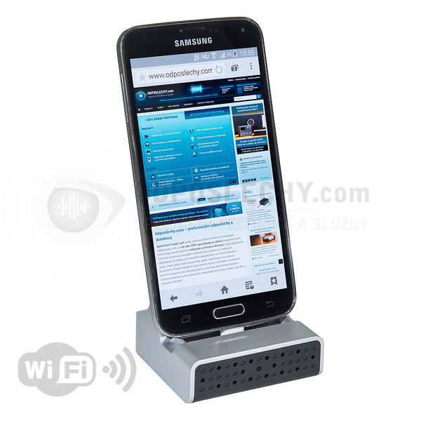 Skrytá WiFi IP kamera v dokovací stanici pro chytré telefony DVR-400ADWI FHD