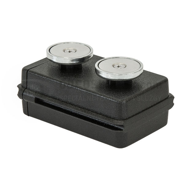 Malé pouzdro s magnety na podvozek pro GPS lokátor FleetLock Mobile